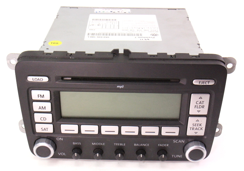 Premium 7 Radio Cd Player 06 10 Vw Jetta Rabbit Gti Mk5