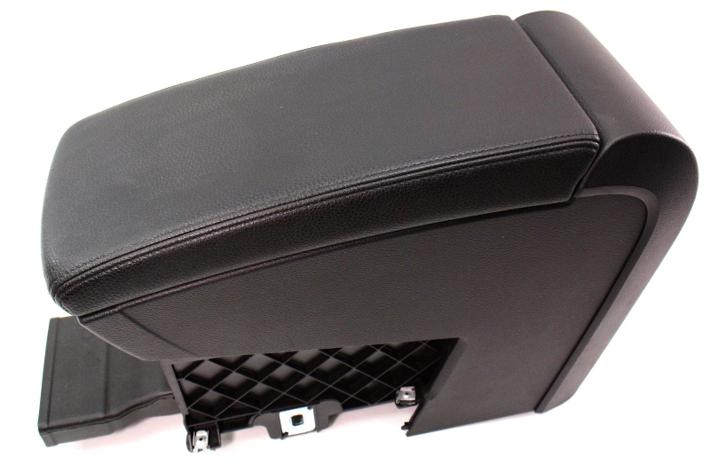Black Leather Center Console Armrest 06 10 Vw Passat B6