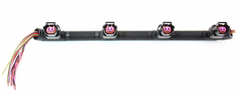 Rh Fuel Injector Wiring Plug Pigtail Vw Phaeton Audi A6 A8 S4 V8