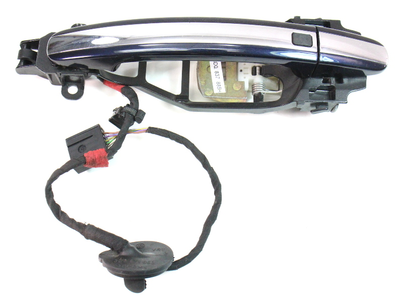 LH Rear Exterior Door Handle Pull 04-06 VW Phaeton - LR5W Blue - 3D0 837 885 H