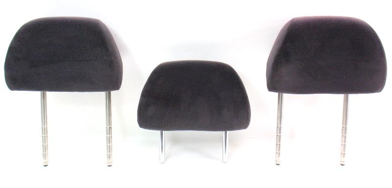 Rear Headrest Head Rest Set Black Cloth 01 5 05 Vw Passat