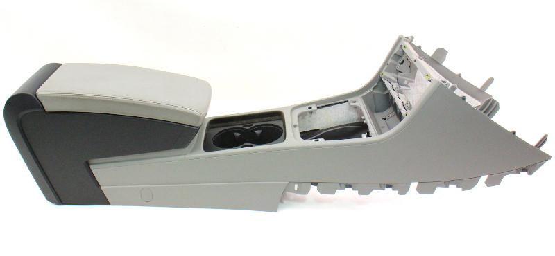 Grey Leather Center Console Armrest 06 10 Vw Passat B6
