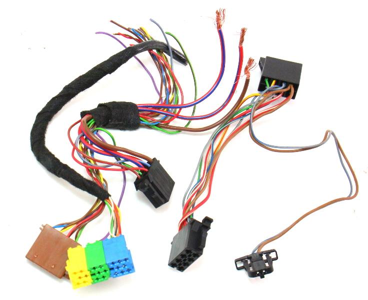Radio head unit wiring harness plugs pigtails vw