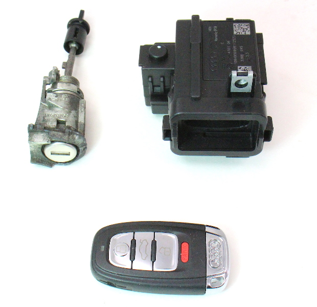 Ignition Key Fob Door Lock Set 09-16 Audi A4 B8