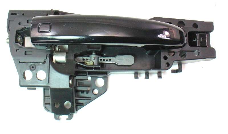 RH Rear Exterior Door Handle 09-12 Audi A4 S4 B8 - LY9B Black - Genuine