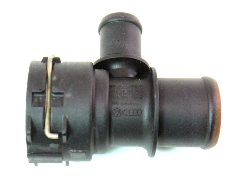 Upper Radiator Coolant Hose Flange 06-10 VW Passat B6 2.0T BPY - 1K0 122 291 M