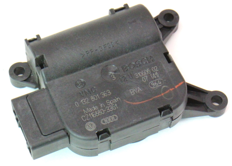 Heater Climate Flap Actuator Motor 06-10 VW Passat B6 Genuine - 0 132 801 363