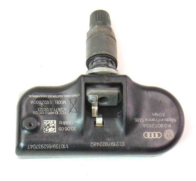 TPMS Tire Pressure Monitor Sensor 05-10 VW Jetta Golf Rabbit MK5 - 1K0 907 255 A