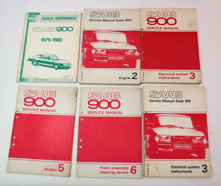 1979-1980 Saab 900 Factory Service Manuals 0298224
