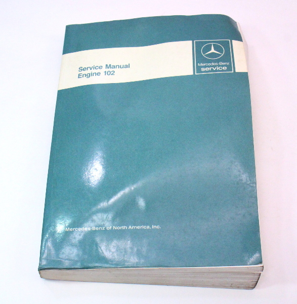 Mercedes Factory Service Manual Book Engine 102 190E - 6510 1919 13