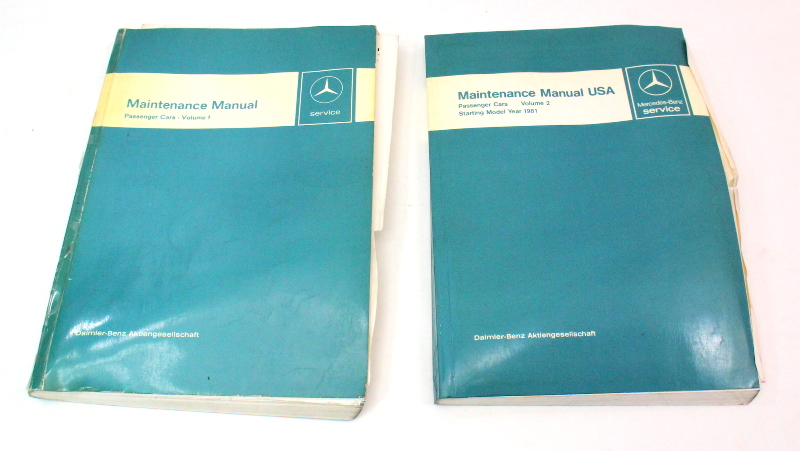 Mercedes Benz Service Manual Passenger Cars Starting Model