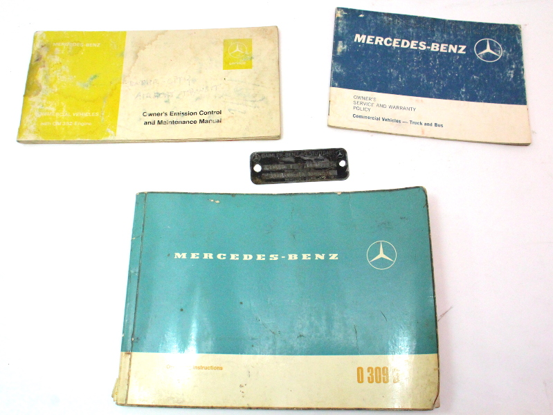 Mercedes Operating Instructions Owners Manual 309d 0 309 D Bus Truck Transporter