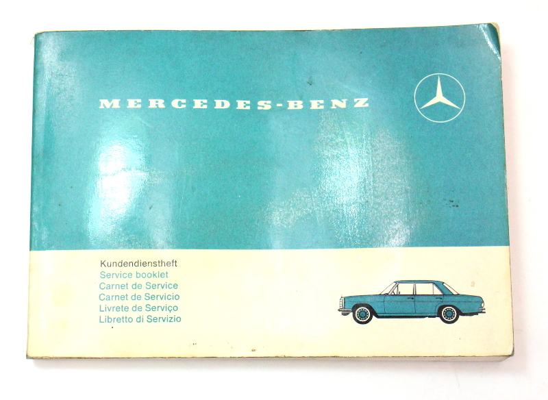 Mercedes Operating Instructions Owners Manual 1968