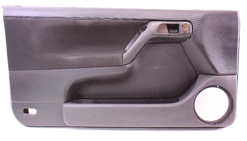 lh driver front interior door panel   vw cabrio mk black