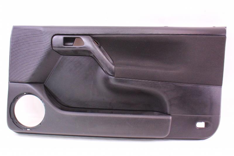 RH Passenger Front Interior Door Panel 99.5-02 VW Cabrio MK3.5 - Black