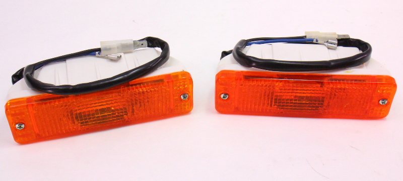 Front Euro Bumper Turn Signal Lights Vw Jetta Rabbit Golf