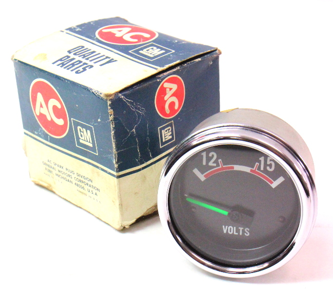 NOS GM Voltmeter Voltage Gauge Volt Meter Vintage GMC