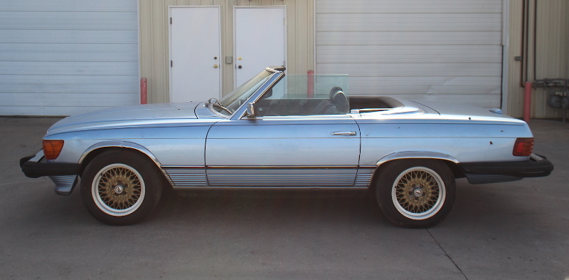 1985 Mercedes Benz 380sl R107 Convertible Roadster