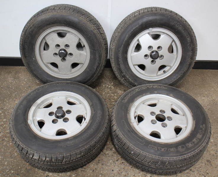 "Set Of 4 VW 14"" x 6"" Alloy Wheel Rims 80-91 Vanagon T3  With Tires  Local Pickup"