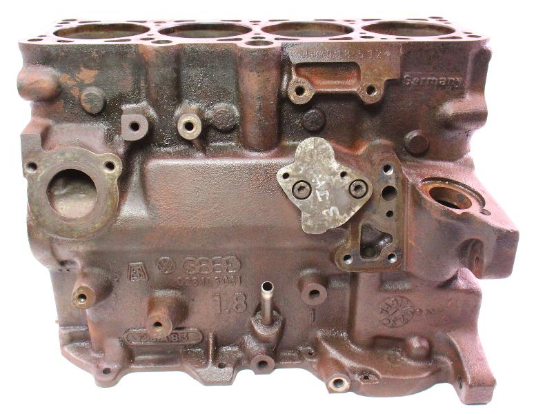 1.8 8V JH Engine Motor Cylinder Bare Block JH VW Jetta Rabbit GTI Scirocco MK1