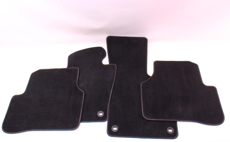 Complete Floor Mat Carpet Set 06 10 Vw Passat B6 Black