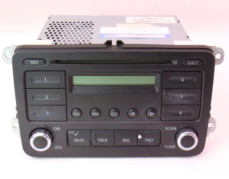 stock radio cd player 06 10 vw jetta rabbit gti mk5 passat. Black Bedroom Furniture Sets. Home Design Ideas