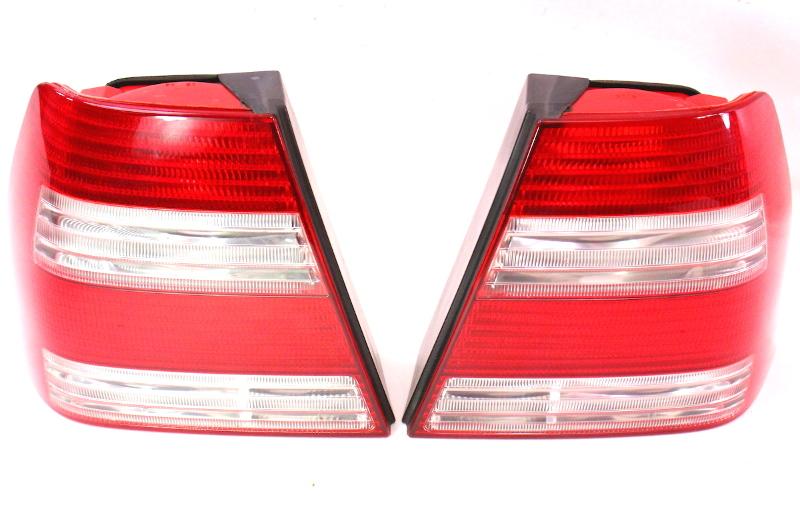 White Striped Taillight Tail Lamp Set Pair 99 05 Vw Jetta