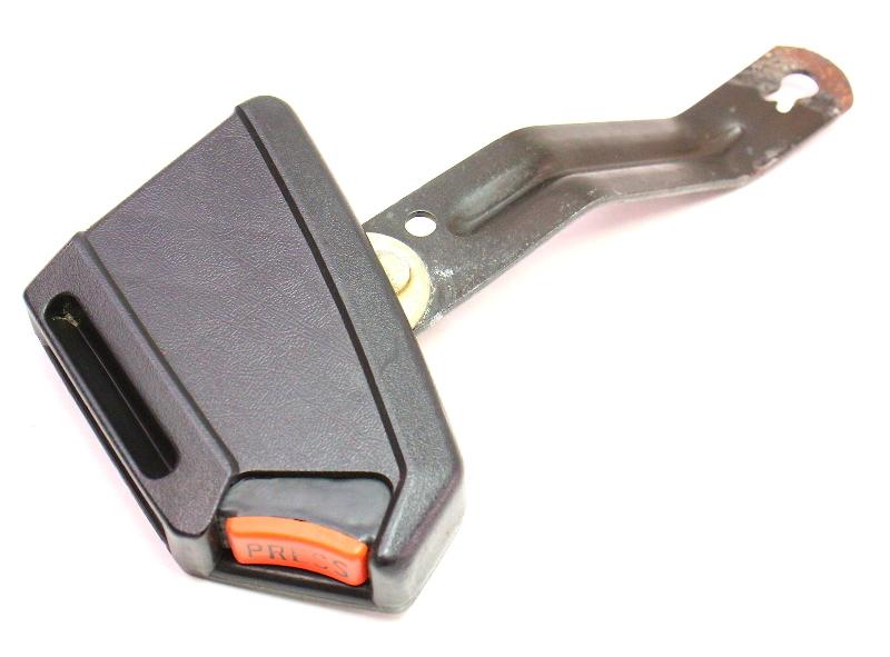RH Front Seat Belt Receiver 81-84 VW Rabbit GTI MK1 - Black - 171 857 756 N
