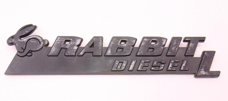 Rabbit Diesel L Hatch Emblem Badge Vw Rabbit Mk1 Genuine