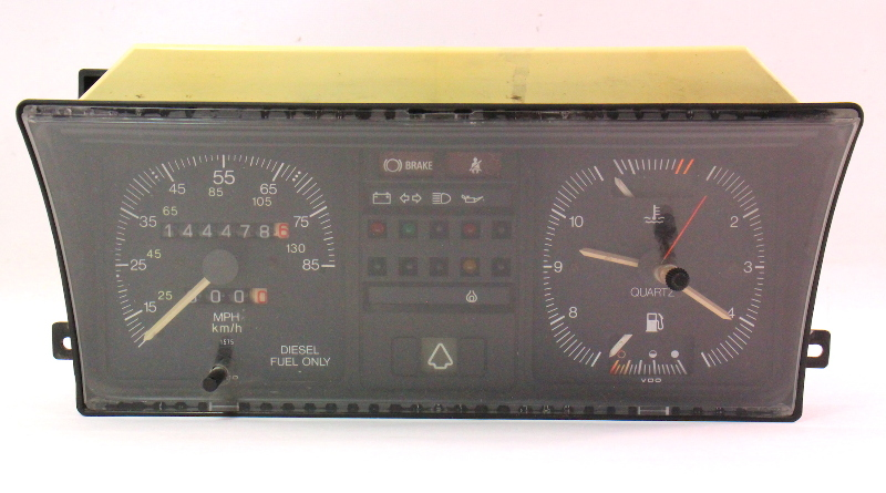 Gauge Instrument Cluster Vw Rabbit Diesel Mk1 Speedometer Clock Genuine