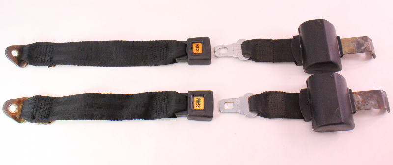 rear back seat belt seatbelt set 75 84 vw rabbit mk1