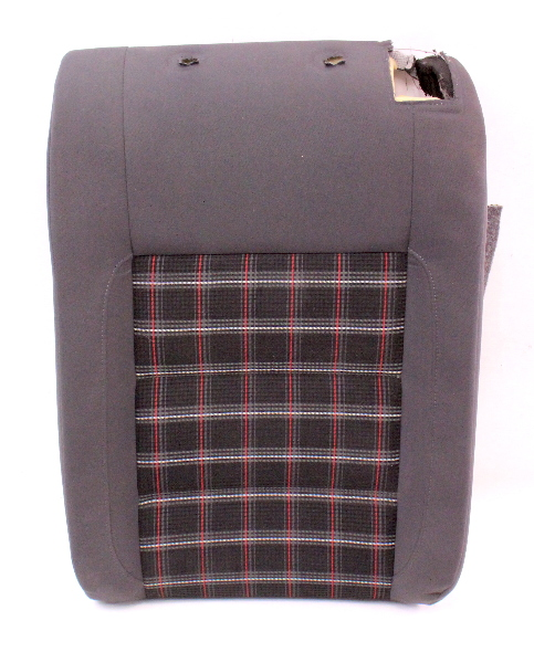 LH Rear Seat Back Rest 05-10 VW Rabbit GTI Jetta MK5 - Interlagos Sport Plaid
