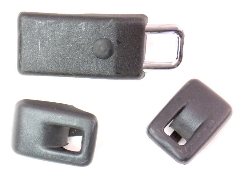 Rear Child Safety Hook Set 05-10 VW Jetta Rabbit GTI MK5 - Black - 8E9 887 269