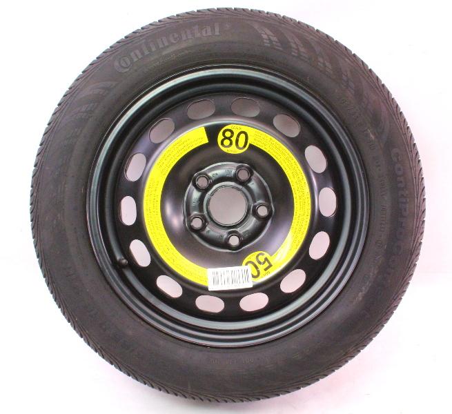 """16"""" Full Size Spare Steel Wheel Rim & Tire 05-10 VW Jetta Golf Rabbit MK5 5x112"""