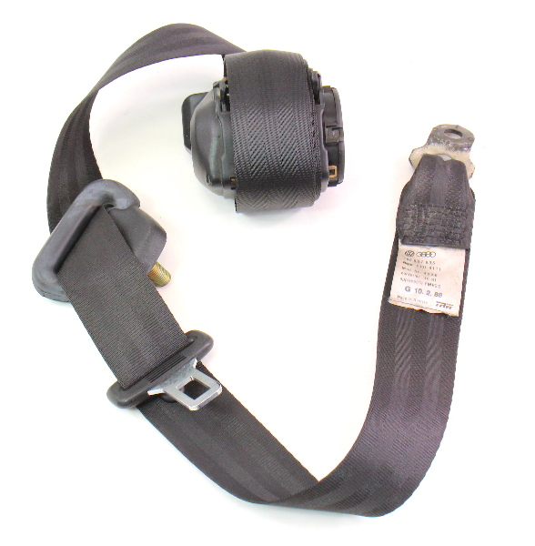 LH Rear Seat Belt SeatBelt 85-92 VW Jetta Golf MK2 Black - Genuine - 165 857 805
