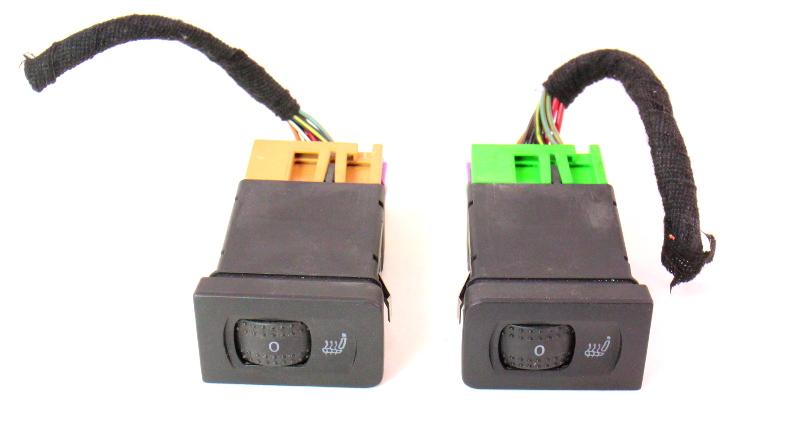 Heated Seat Switches & Pigtails 99-05 VW Jetta Golf GTI MK4 1J0 963 563 B 564 B