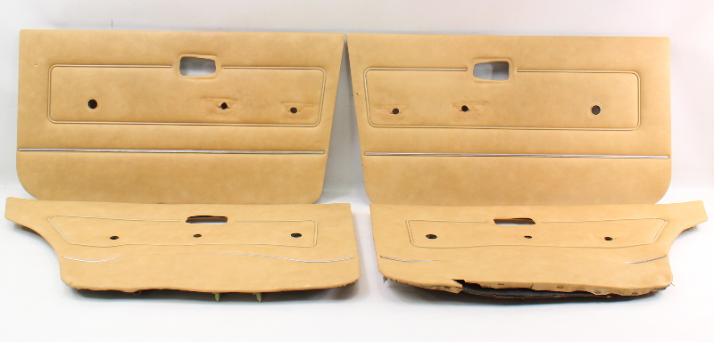 Interior Door Card Panel Full Set VW Rabbit MK1 - Genuine - Brown