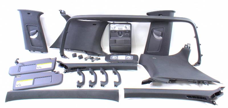 Black Upper Headliner Interior Trim Swap 06-09 VW Golf Rabbit GTI MK5 ~ Genuine