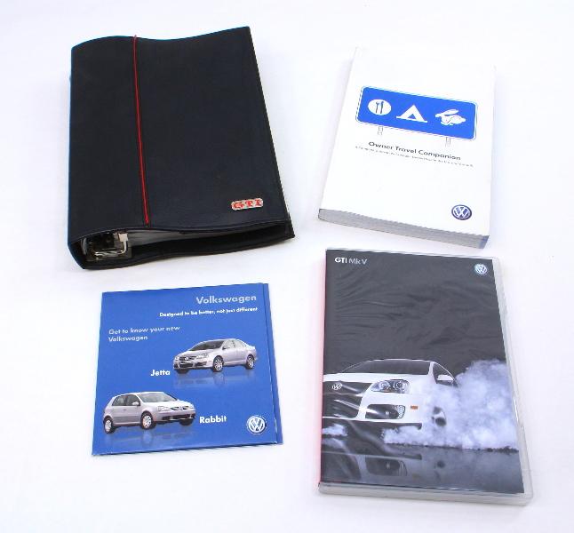 Owners Manual Books 06-09 VW GTI MK5 - Genuine