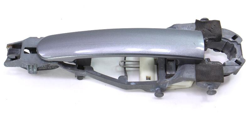 LH Exterior Door Handle 06-09 VW Rabbit Golf GTI MK5 LA7T United Gray - Genuine
