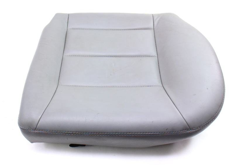 LH Rear Back Seat Cushion & Cover 99-05 VW Jetta Golf MK4 Grey Leather - Genuine