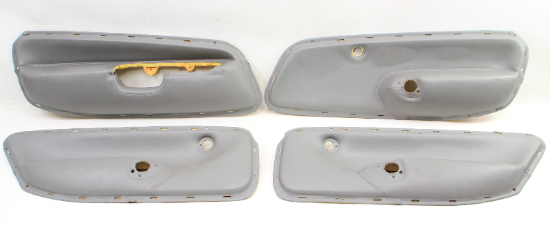 cp046314 set of 4 grey leather door panel inserts 99 05 vw jetta golf mk4 genuine carparts4sale, inc jetta golf 99 5 05 mk4  at n-0.co