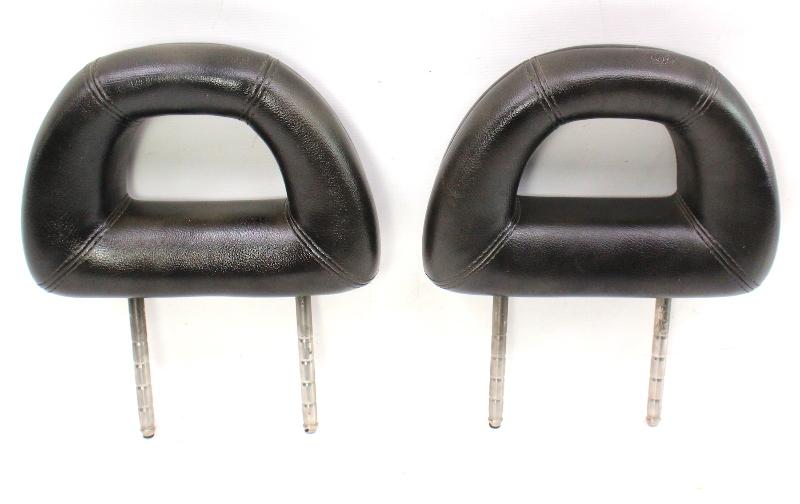 Rear Donut Headrests 98-05 VW New Beetle Head Rests - Black Leather - Genuine