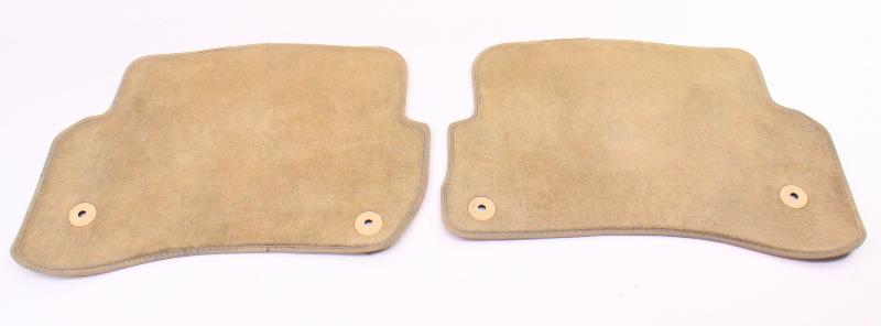 Rear Floor Mat Carpets 01-05 VW Passat B5.5 Beige Genuine - 3B0 864 451 / 452 B