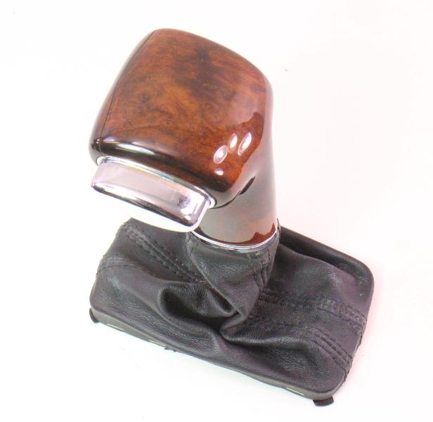 Wood Shifter Shift Knob Handle Selector & Boot 06-10 VW Passat B6 - Genuine