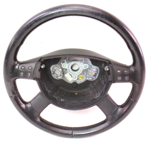 Leather Stock Steering Wheel 2006 Vw Passat B6 Genuine