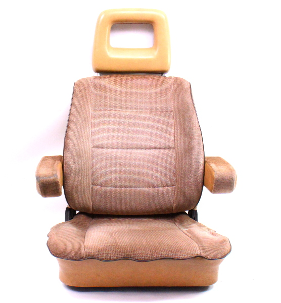LH Front Brown Bucket Seat Captains Chair 80-91 VW Vanagon