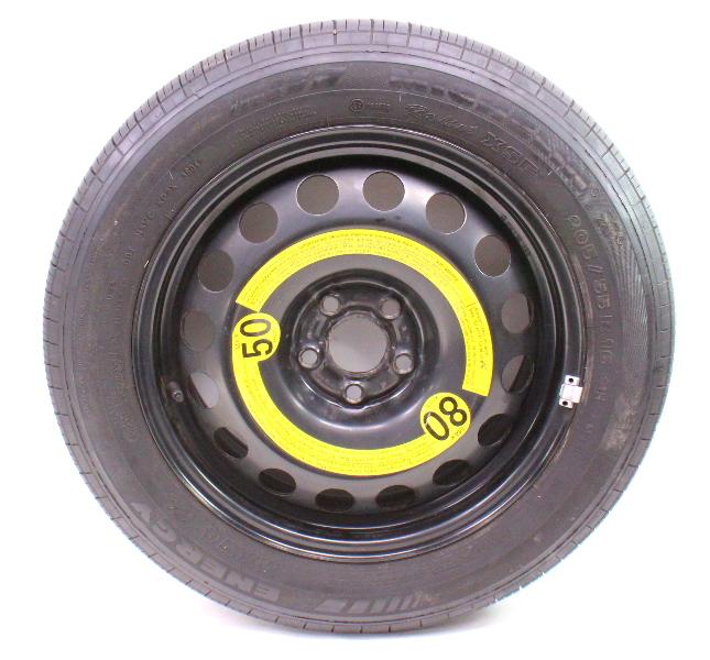 """16"""" x 6.5"""" Full Size Spare Wheel Tire 99-05 VW Jetta Golf GTI Mk4 1J0 601 027 R"""