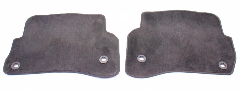 Rear Floor Mat Carpets 01-05 VW Passat B5.5 Charcoal - Genuine - 3B1 863 011 G