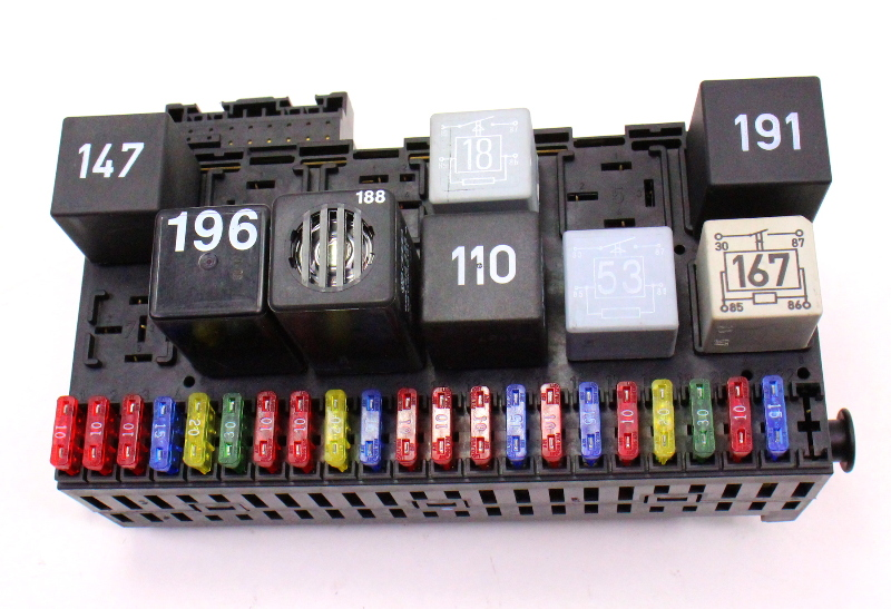 Dash Relay Board Fuse Panel Box Vw Jetta Golf Gti Cabrio